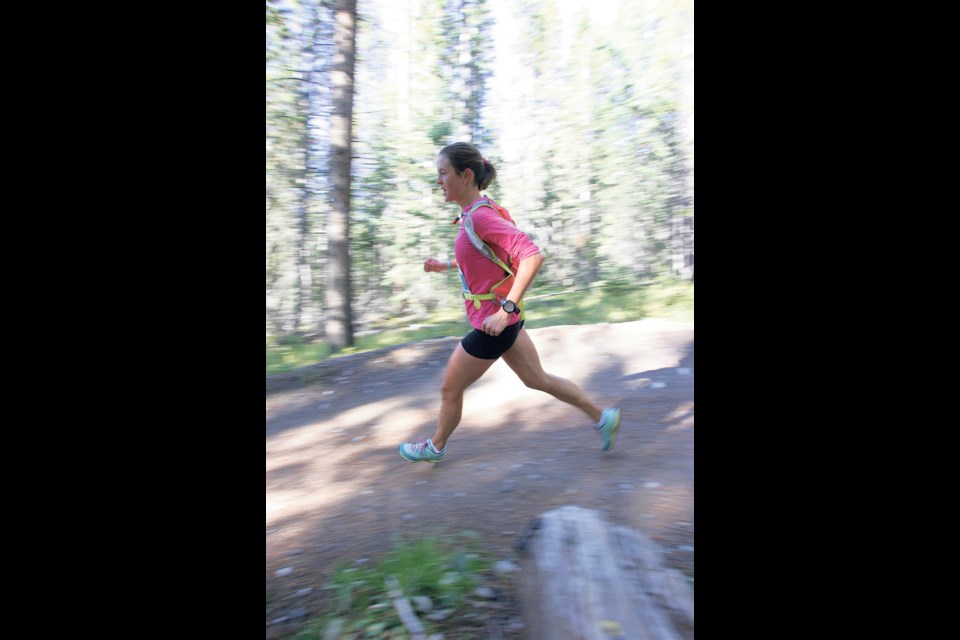 A runner participates in a 5 Peaks race in Canmore. RMO FILE PHOTO