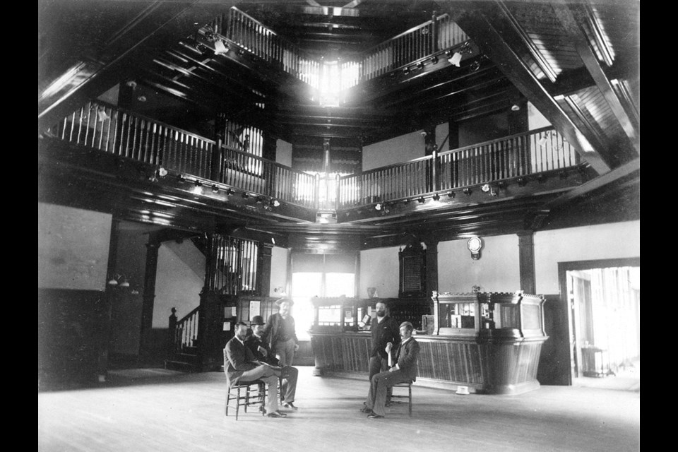 A historic image from 1956 of the Banff Springs Hotel's main lobby, now the Rundle Bar. SUBMITTED IMAGE