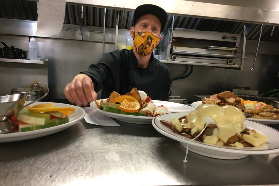 Chef Thibaut Wallyn serves up a few meals at Chez Francois. Photo supplied