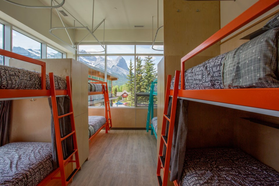 One of the dorm style accommodations in the Canmore Downtown Hostel, located off of Bow Valley Trail. SUBMITTED PHOTO