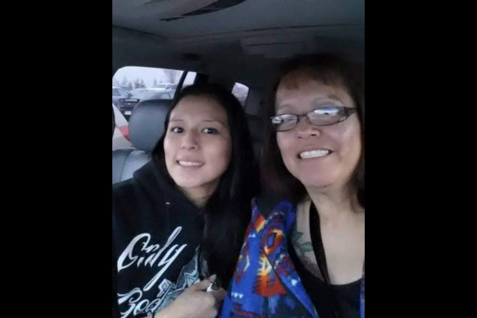 Organizer of the Drug Awareness walk for Stoney Nakoda, Eve Powder (right) pictured with her late daughter Christa-Lee Powder (left). Christa Lee passed away of an overdose a week after her 29th birthday in 2017. PHOTO SUBMITTED