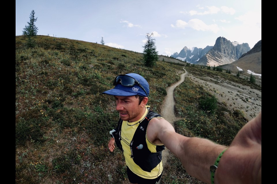 Canmore's Leif Godberson goes for the Fastest Known Time (FKT) on the Rockwall Trail. LEIF GODBERSON PHOTO
