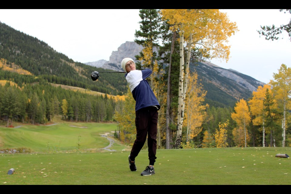 Canmore's Ronan Steel won first place at the South Central Zones golf tournament on September 21. The Grade 12 OLS student advances to provincials, which take place in spring. JORDAN SMALL RMO PHOTO