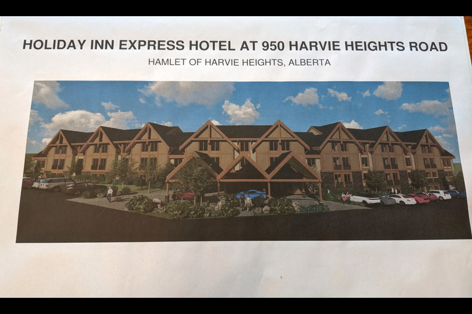 The proposed 120-room Holiday Inn Express for Harvie Heights.