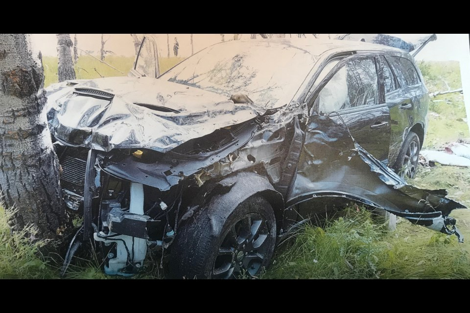 Horst Stewin lost control of the vehicle he was driving on Aug. 2, 2018 when he was shot in the head. SUBMITTED IMAGE