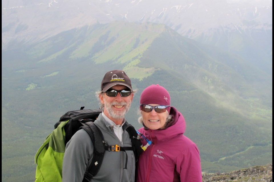 Doug and Sheila Churchill enjoy a hike in the mountains. SUBMITTED PHOTO