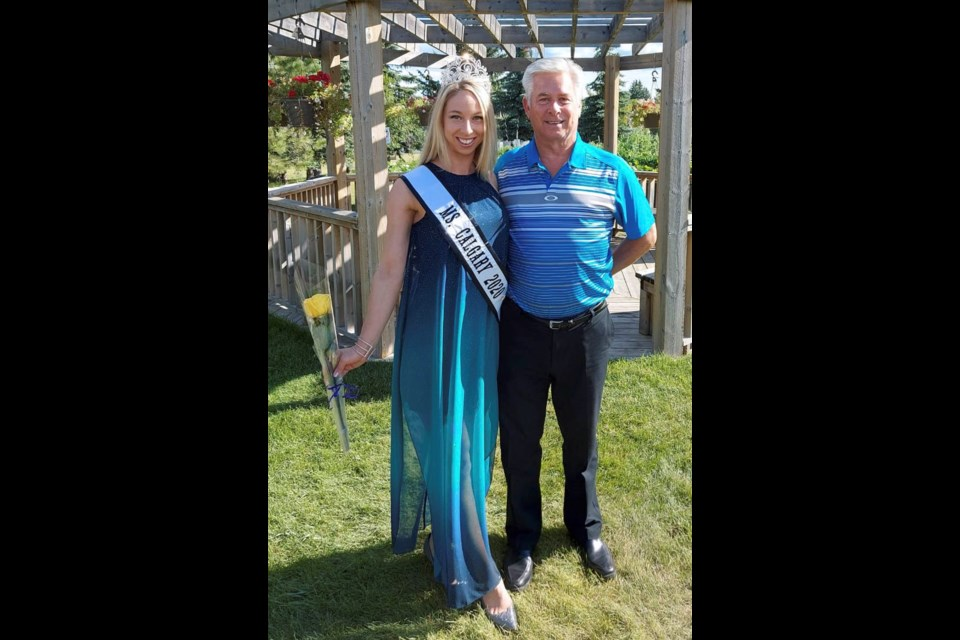 Newly crowned Ms. Calgary 2020 Katherine Kearney and her father, John. SUBMITTED PHOTO