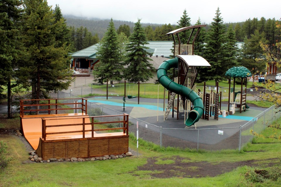 The newly built half-pipe and playground are now open to the public at the Lake Louise Sport and Recreation Centre grounds. JORDAN SMALL RMO PHOTO