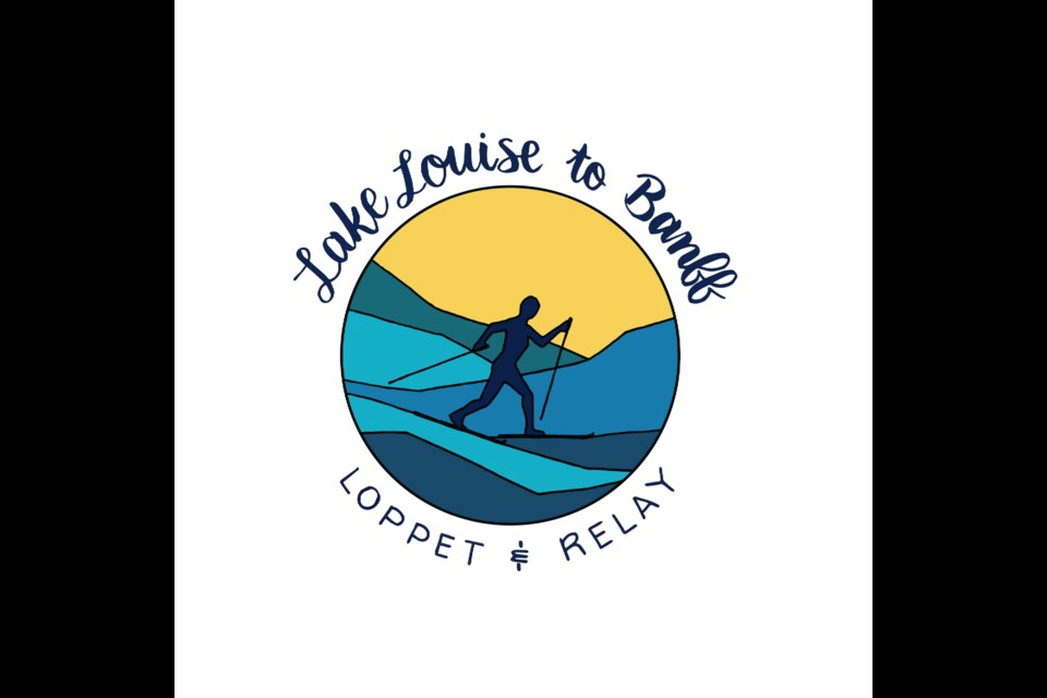 The new logo for the Lake Louise to Banff Loppet & Relay. Design by Emily Beaudoin and Hailey Monod