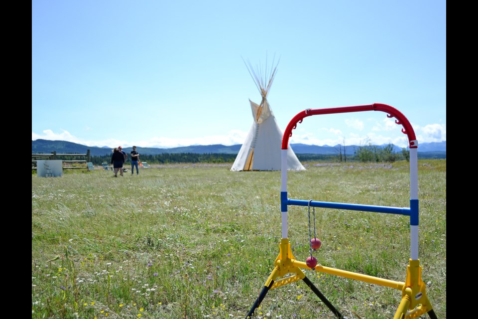 The Family Game Day was hosted at the McDougall Memorial United Church site on July 27. Jenna Dulewich/RMO PHOTO