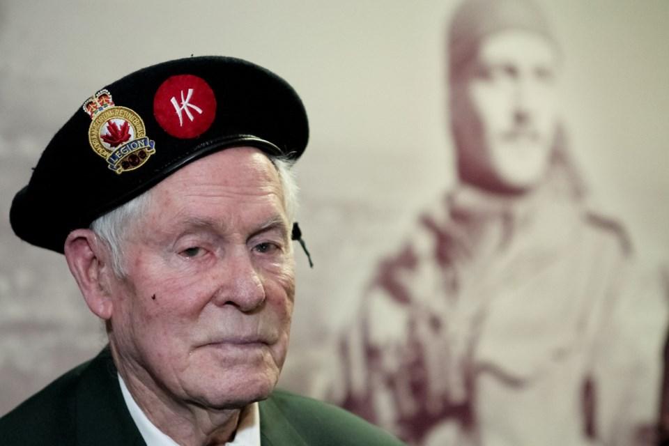 Veteran Ralph MacLean served at Hong Kong with the Royal Rifles of Canada. JULIE VINCENT PHOTOGRAPHY