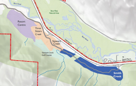 A map from the Town of Canmore's website.