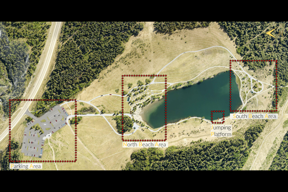 The concept plan for Quarry Lake Park in Canmore. RMO PHOTO
