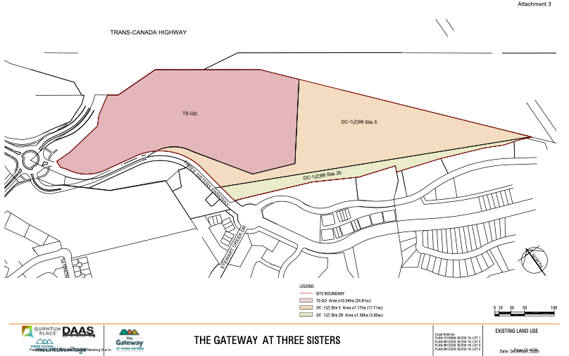 The Gateway area of Three Sisters Mountain Village received approved from Canmore council.