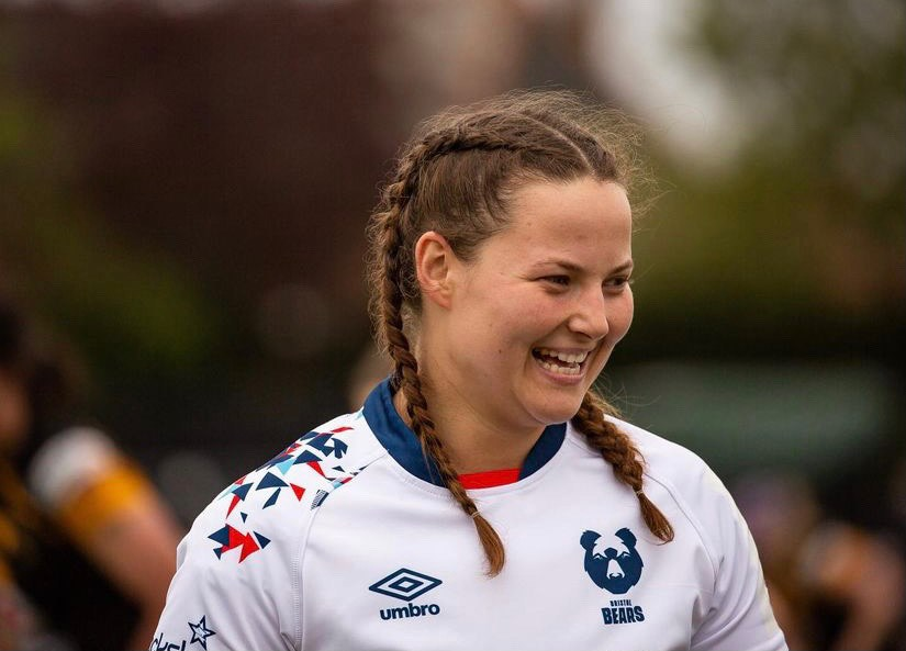 Holly Phillips in her Bristol Bears gear. SUBMITTED PHOTO