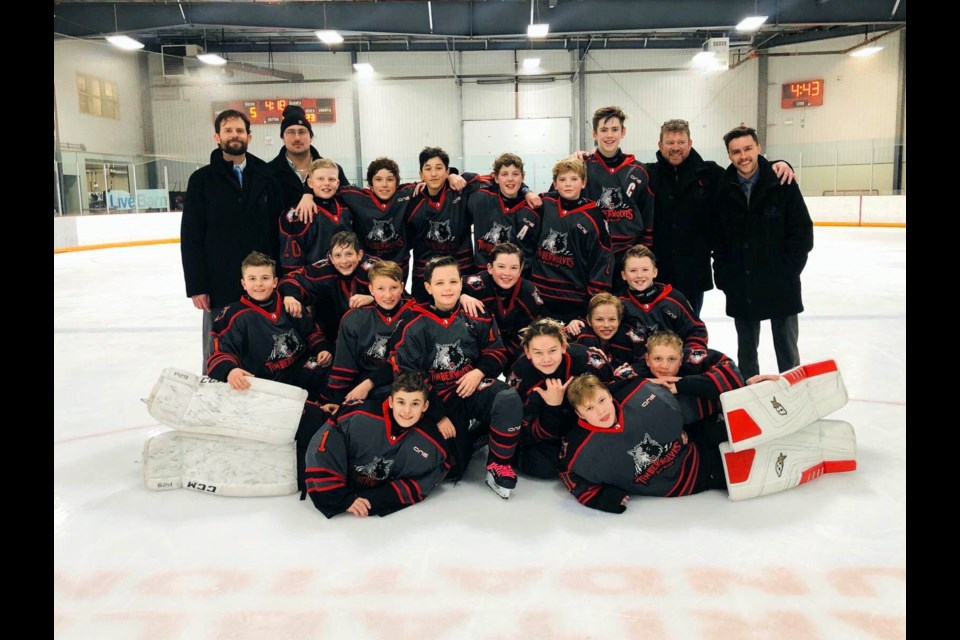 The Bow Valley Timberwolves AA peewee hockey team. SUBMITTED PHOTO