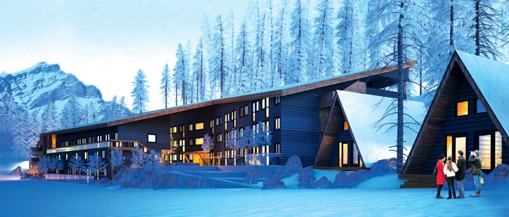 An artist's rendering of the Ti'nu rental housing project in Banff.