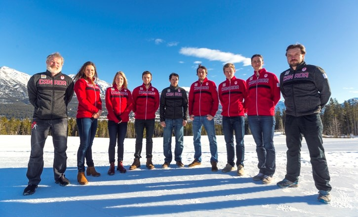 Members of Canada's national biathlon team competing at the 2018 PyeongChang Winter Olympics. Many of whom live and train in Canmore.