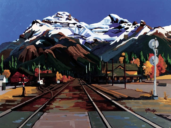 Vermilion Shadows, Mount Rundle
