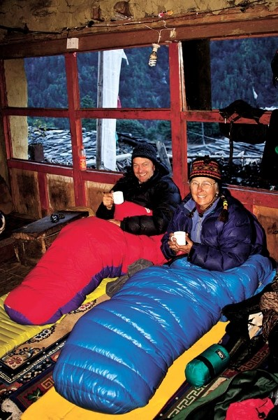 Pat and Baiba Morrow spent the month of December, 2010 trekking up to the Tibet border through the remote Tsum Valley in central Nepal, where they were hosted in family homes