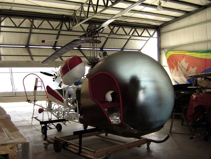 As part of the story of Hans Gmoser, founder of Canadian Mountain Holidays, and heliskiing, Gateway to the Rockies will feature a replica of a Bell 47 helicopter built in