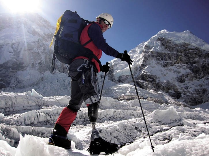 A Colombian climber tests the bounds of physical endurance as he heads up Mount Everest in Dianne Whelan's film 40 Days At Base Camp.