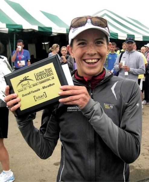 Banff Ellie Greenwood won ultramarathons in Chile and Paris, Ontario to finish her season.