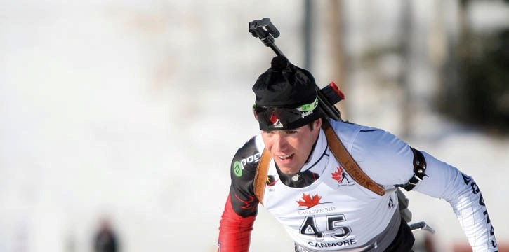 Nathan Smith won three IBU medals in three races last week at the Canmore Nordic Centre.