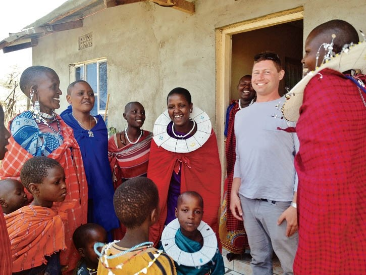 Adrian Cohen seen during his trip to Tanzania with the Rocky Mountain Soap Company.