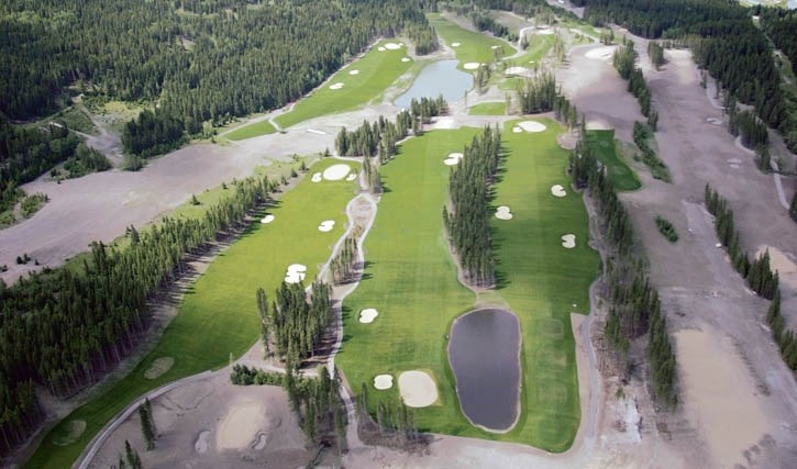 The unfinished Three Sisters golf course in Canmore.
