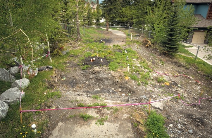 The sinkhole at Dyrgas Gate in Canmore.