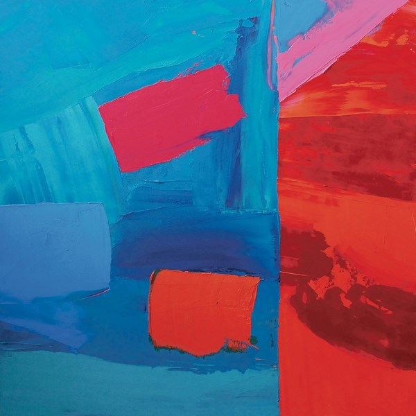 Barb Fyvie's Paradox 2, (oil and cold wax).