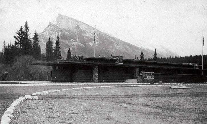 The Frank Lloyd Wright pavilion, circa 1913.