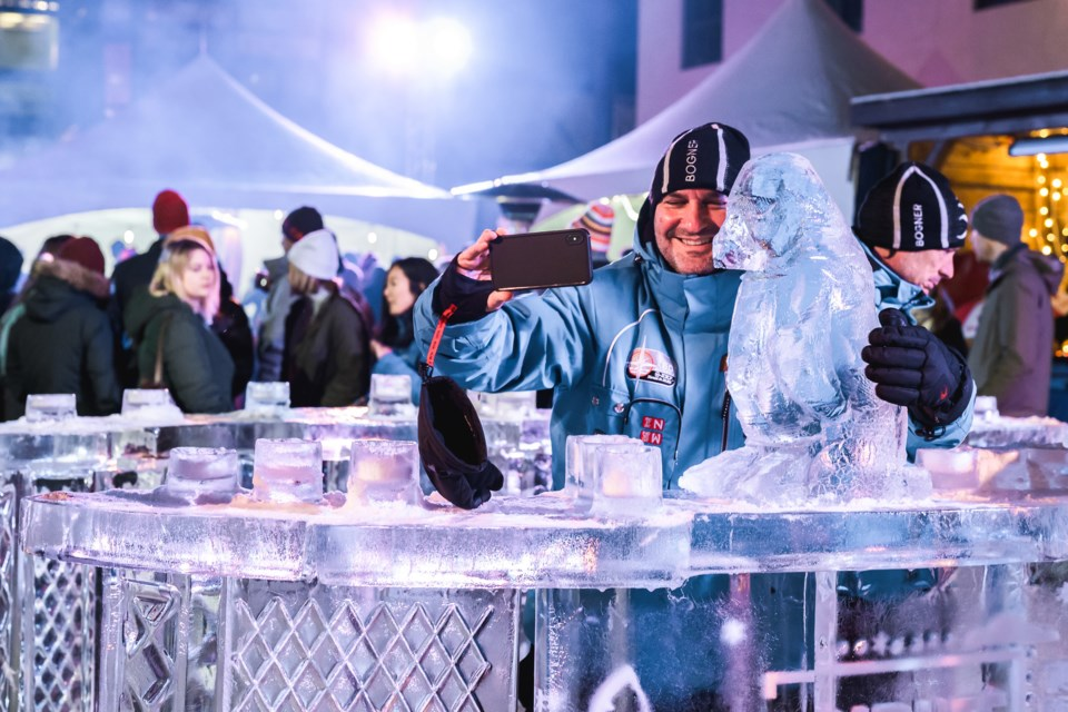 A guest explores the ice bar at the 2019 Tribute Craft Spirit Celebration in Banff. Made With Love Submitted Photo