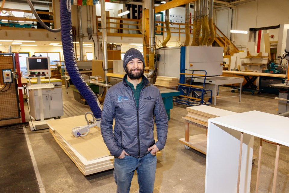 Canmore Woodcrafters Ltd. second-generation owner Brian Salzgeber stands in the heart of the shop on Nov. 28. CHELSEA KEMP RMO PHOTO