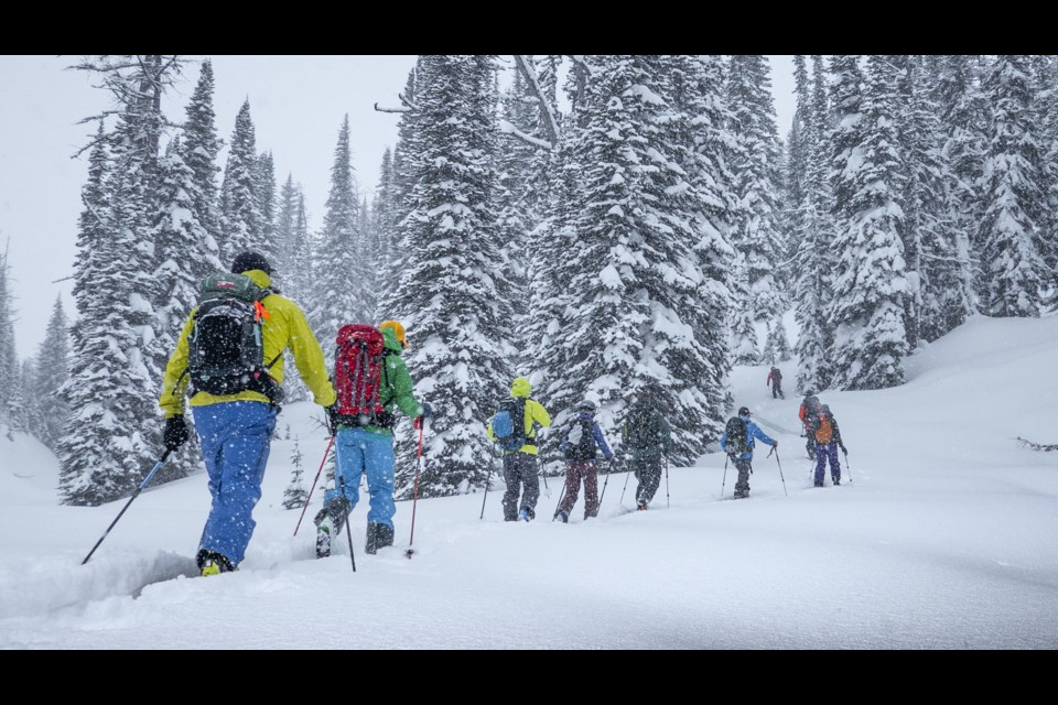 Guests take on the uptrack at Talus Backcountry Lodge. MARCUS BARANOW PHOTO