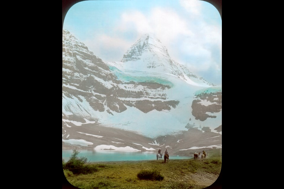 A lantern slide of Mount Assiniboine from the 1907 collection of Mary Vaux. SUBMITTED PHOTO