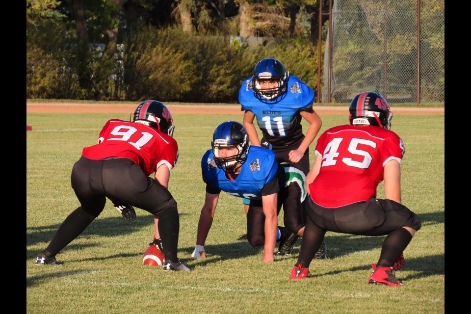 The action was intense as Outlook and Rosetown met at R.B. Lyons Field.