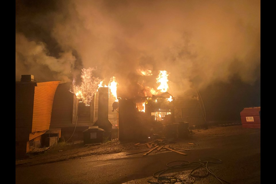 A fire broke out at the Moosehead Inn on Friday night, destroying the popular nightclub and restaurant.