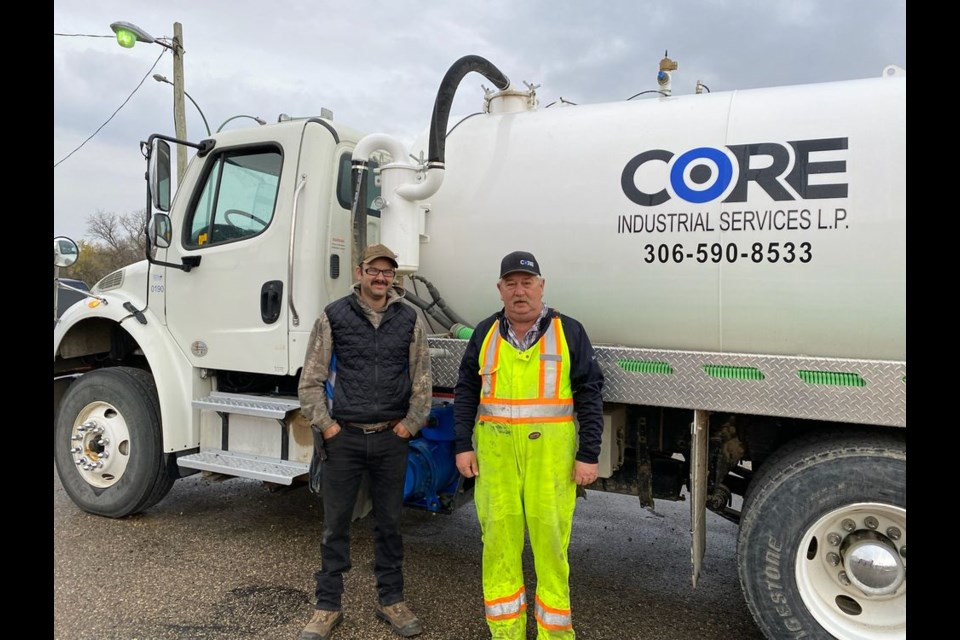 Dave Catcher (left) and Dale Nelson are local operators working for CORE Industrial Services – a new business in Kamsack located at 401 Queen Elizabeth Blvd.