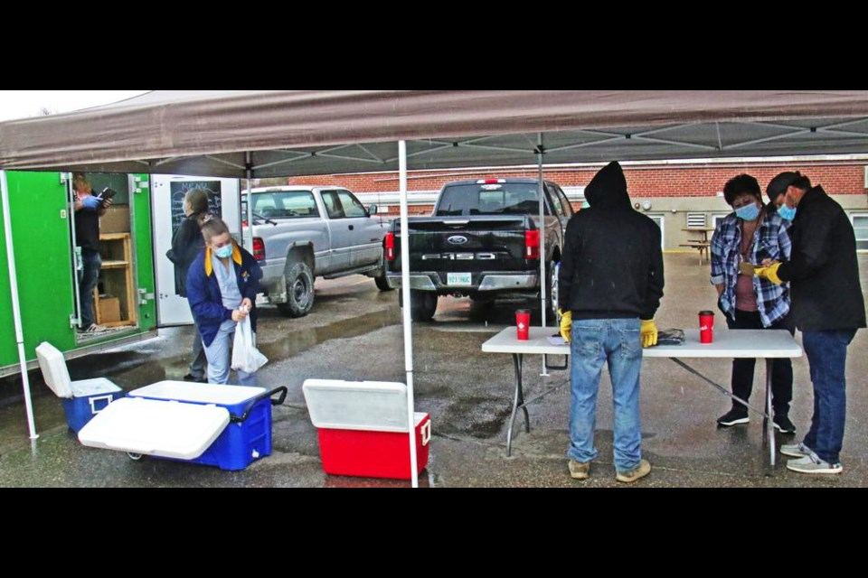 Lowbrow BBQ provided free lunches to the health care workers at the Weyburn General Hospital on Wednesday, paid for by Mryglod Steel and South Side Auto Wreckers as a way to thank them for their work.