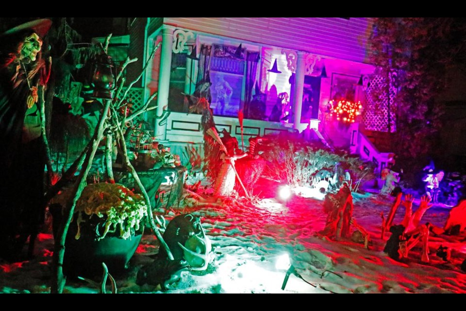 This Halloween display from a year ago attracted many visitors during October.