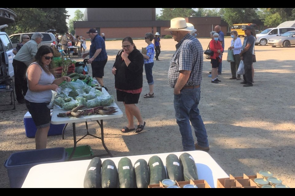 The Gardener's Market in Yorkton is popular with shoppers over the summer.