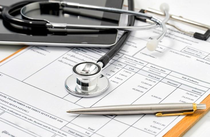 Filling Medical Form, document, stethoscope