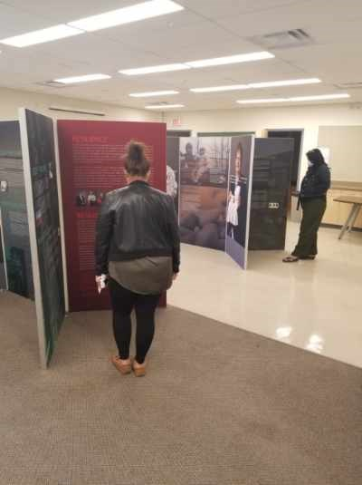A look at the exhibit featured at the library