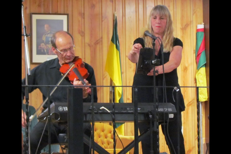 Neil and Nancy Stubbs, guest entertainers at a Borden Friendship Club gathering Aug. 25, have been entertaining seniors for more than 26 years.