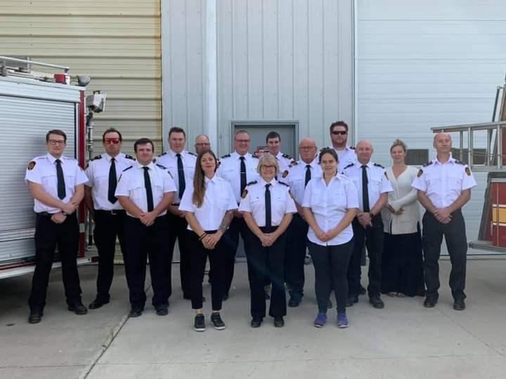 Borden volunteer firefighters hosted a firefighters' memorial Sept. 12.