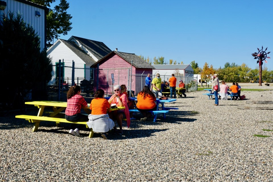 People came and went throughout the morning and afternoon at the Souris Valley Museum for the National Day for Truth and Reconciliation, showing their support for the cause.