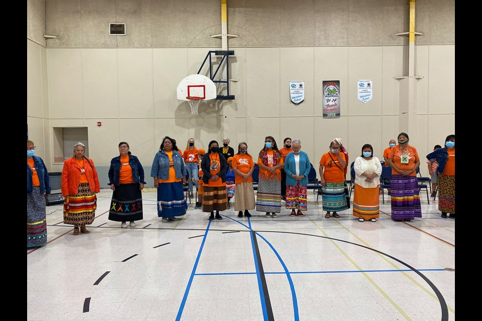 Elders and women at the National Day for Truth and Reconciliation event at White Bear.