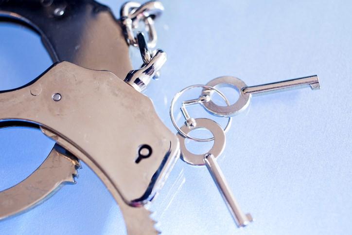 handcuffs and keys Getty fstop123